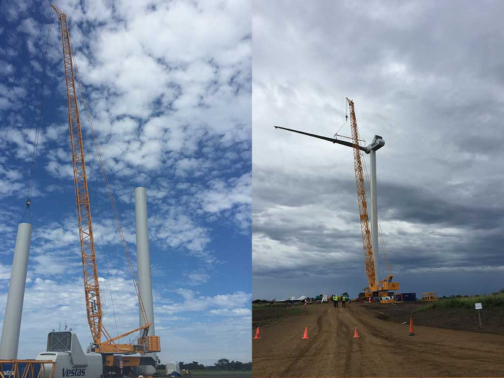 JOHNSON CRANE HIRE COMPLETES CHALLENGING HEAVY LIFTS FOR TWO WIND FARM PROJECTS